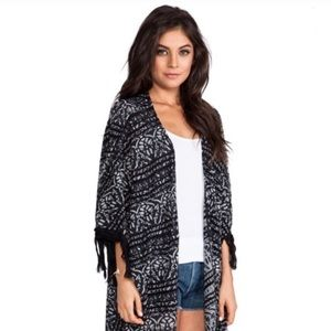 Black and Silver Shimmer Thread Kimono Free People